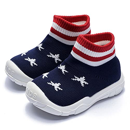 Baby Sneaker,Infant Non-Slip Soft Comforter Toddler Walkers for Boy Girls Shoes Yellow Litter Tiger Elastic Socks Protect Toes Memory Insole Moccasins American Flag bluestar-20 6-12month