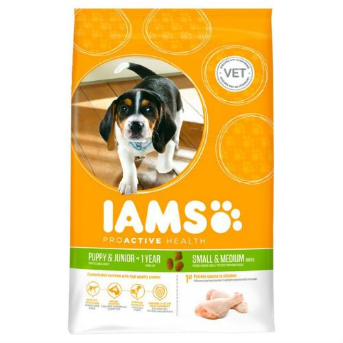 Iams Puppy & Junior Small/Medium Breed Large Dry Dog Food 3kg