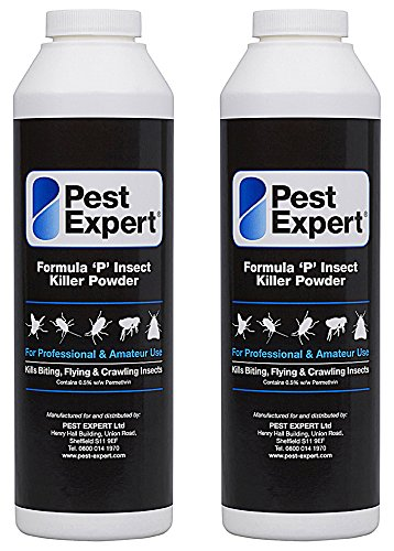 Pest Expert Formula 'P' Bed Bug Killer Powder XL 2 x 300g pack size (HSE approved and tested - professional strength product)