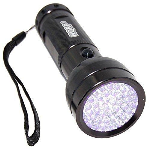 HQRP 390 nM 51 LED Flashlight Blacklight for Saliva Sperm Identification, Hotel Room Inspection, Pet Urine Detection