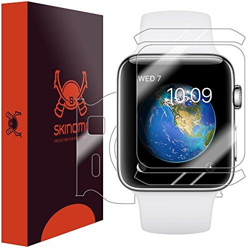 Skinomi TechSkin - pellicola protettiva per Apple Watch 38mm Series 2 & Series 3 - copre il display e resistente all'acqua