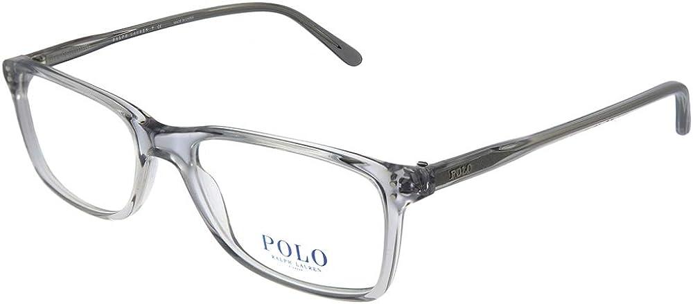 Polo Ralph Lauren PH 2155 5413 Transparent Grey Plastic Rectangle Eyeglasses 54mm