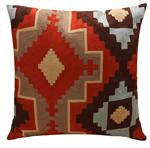 DUIPENGFEI Modern and simple cotton woven tufted cotton super soft car sofa cushion throw pillow cushion cover, red, 45 * 45cm