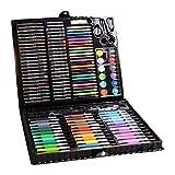 VEDY 150PCs Niños Dibujo Color Bolígrafos Lápices de Colores Set de rotuladores de Acuarela Chlidren Drawing Color Pens Crayons Watercolor Marker Pen Sets (BK)