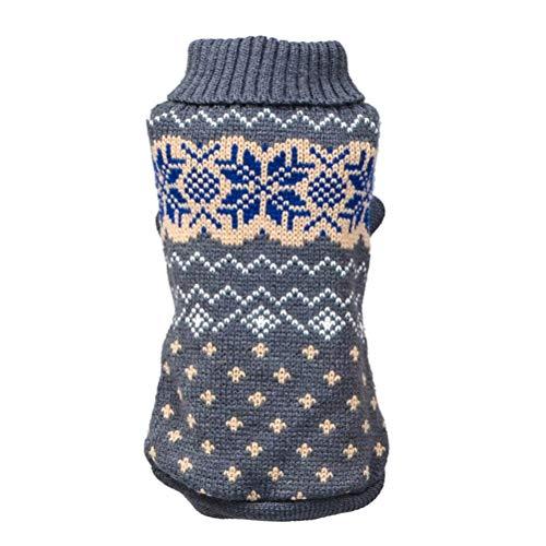 Bluelucon hondenkleding, hond rolkraag hondenpullover wintermantel gebreide trui warm hondenjas sweater vest T-shirt kat indoor kostuum voor kleine medium