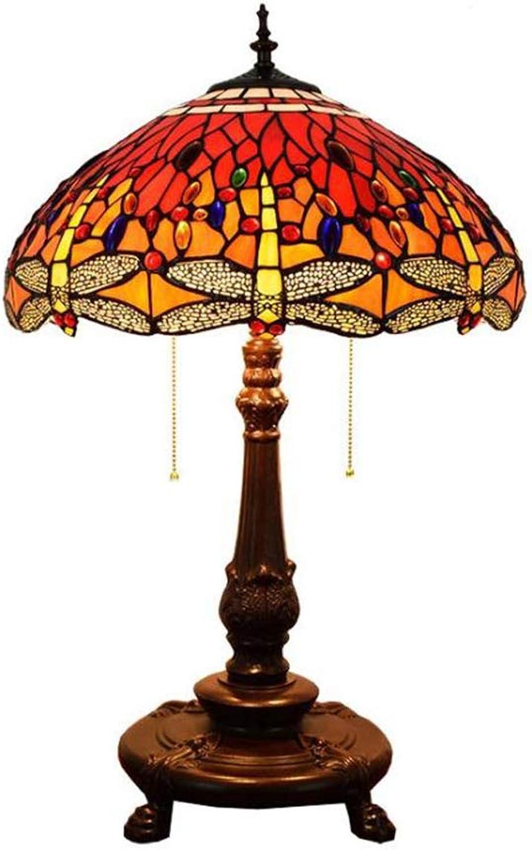 JUNMYEON Farbige Nachttischlampe Mit Buntglas Und Und Und Leichtmetallbasis Ideal Für Die Wohndekoration B07K8NKMZ8 | Bevorzugtes Material  687275