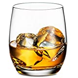 Godinger Old Fashioned Whiskey Glasses, Glass Beverage Cups, European Made - 12oz, Set of 4