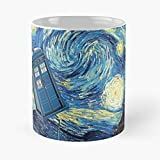 Gogh Who Late Vincent Van Doctor The best 11oz White marble ceramic coffee mug