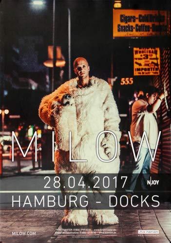 Milow - Modern Heart, Hamburg 2017 » Konzertplakat/Premium Poster   Live Konzert Veranstaltung   DIN A1 «