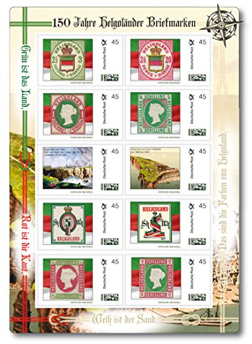 Deutsche Bundespost 150 Jahre Helgoländer Briefmarken |exklusiver Kleinbogen |Briefmarke Individuell |zehn Briefmarken |exklusiv bei Hermann E. Sieger