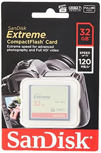 SanDisk SDCFXSB-032G-G46 Extreme CompactFlash Scheda di Memoria 32GB UDMA-7 120MB/S