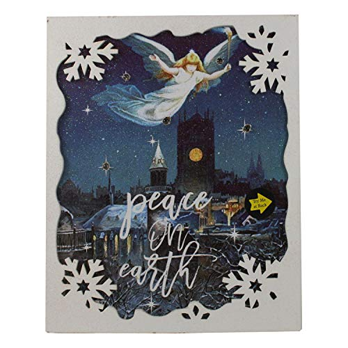 Peace on Earth LED Hanging Sign