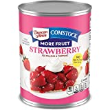 Duncan Hines Comstock Premium Pie Filling & Topping, Strawberry, 21 Ounce (Pack of 8)