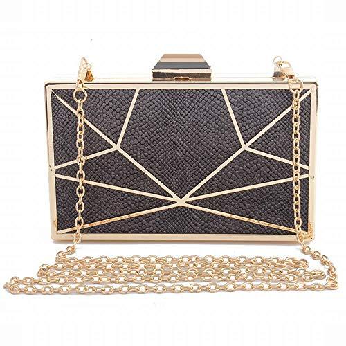 FELICIOO Abendtasche Clutch Bag aus Metall Damen Flanellkleid für Damen (Farbe : 1)
