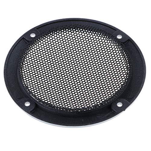 non-brand 3 Pulgadas Cubierta de Altavoz Audio Círculo Decorativo Rejilla de Malla Metálica - Negro