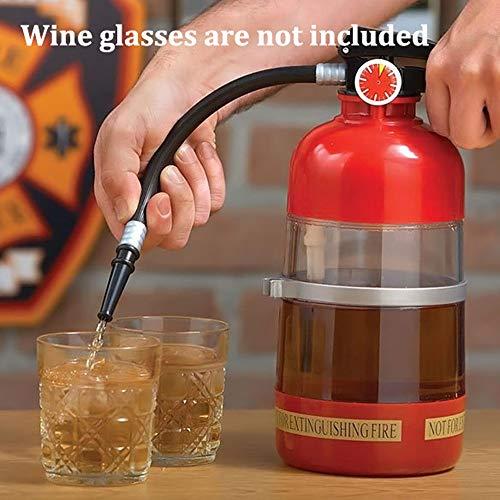 ZRWZZ Separate Wein Zubehör Kreative Feuerlöscher Form Decanter Bier Cola Saft Maschine Bar Dispenser