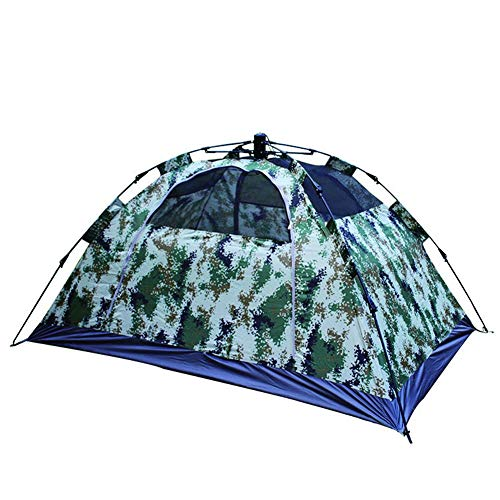 Tent Outdoor camping double camouflage, camouflage single door, quick opening