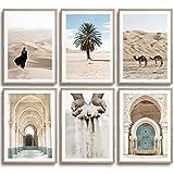 MONOKO® Wohnzimmer Poster Set - Schlafzimmer Bilder Set