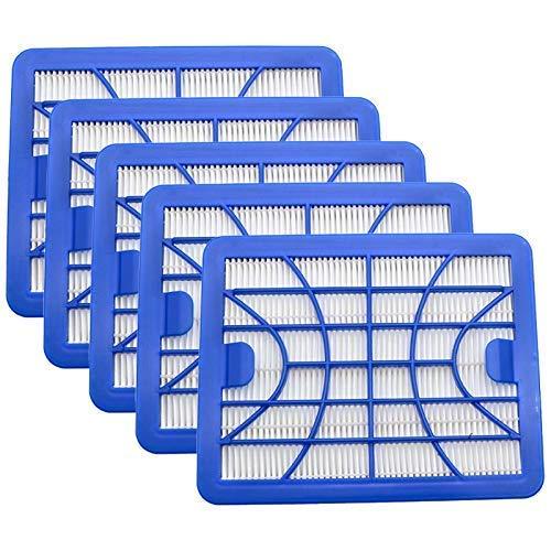 KTZAJO 5 filtros de polvo H13 filtro de limpieza para Zelmer ZVCA050H Clarris Twix, Explorer, Júpiter filtro de aspiradora