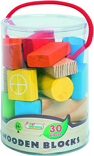 FIRST LEARNING - A1502501 - Baril 30 Blocs en Bois
