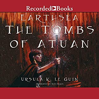 The Tombs of Atuan     The Earthsea Cycle, Book 2              Written by:                                                                                                                                 Ursula K. Le Guin                               Narrated by:                                                                                                                                 Rob Inglis                      Length: 5 hrs and 28 mins     15 ratings     Overall 4.7