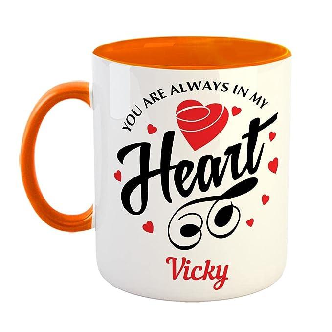 FurnishFantasy You are Always in My Heart Ceramic Coffee Mug
