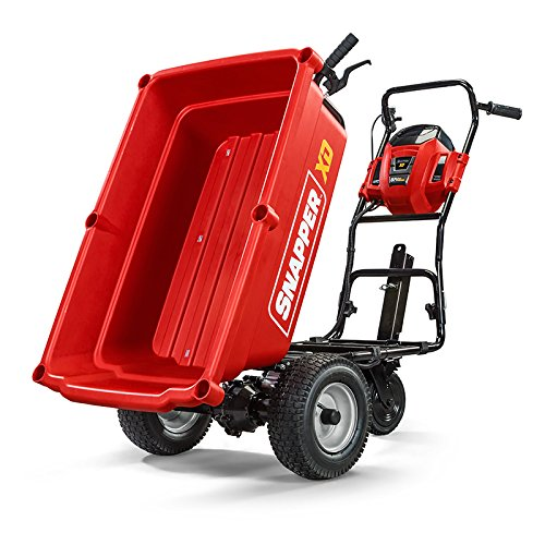 Snapper XD 82V MAX Cordless Electric Self-Propelled Utility Cart with 3.7-Cubic-Foot Cargo Bed, Battery and Charger Not Included