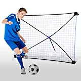TGU Soccer Gifts, Kids Football Training Aids & Equipment Team Exercises & Solo Practice, Blue