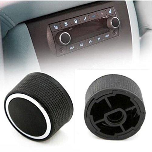 VOFONO Rear Radio Audio Volume Control Knobs Dial Tuner [2-PCS], Stereo Knob Buttons Replacement for 07-13 Chevy Tahoe Chevrolet Silverado GMC Acadia Sierra Denali Yukon GM 22912547