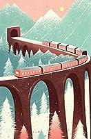 ジグソーDIY木製パズル家族の楽しみ教育クリスマスパズル子供のための1000ピース大人のティーンエイジャー、最高のジグソーパズルおもちゃゲームギフト抽象的な列車-50x75cm