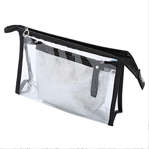 LXWLXDF- 3pcs Bolsa de cosméticos portátil de Viaje a Prueba de Agua 1 Bolsa de cosméticos Transparente con Cremallera Transparente Bolsa de cosméticos Bolso Impermeable Bolsa Adecuada para Damas/da