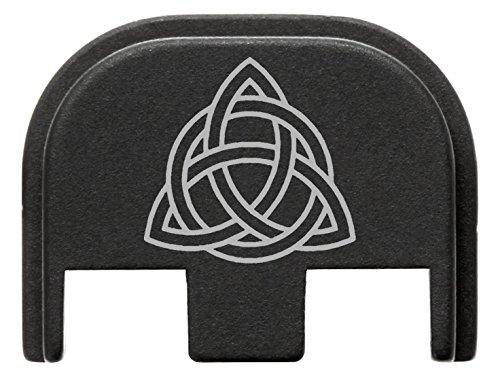 for Glock Gen 5 Back Plate 9mm 17 19 19x 26 34 Black NDZ Celtic Knot