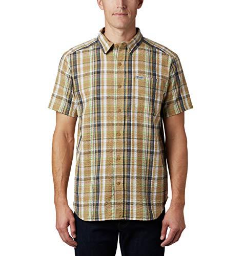 Columbia Brentyn Trail T-Shirt à Manches Courtes en Seersucker pour Homme M Plaid Crouton