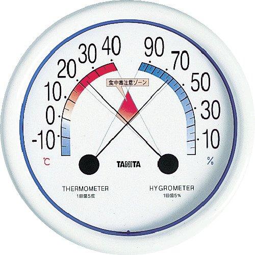 食中毒注意ゾーン付き温湿度計 5488