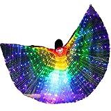 Zebery Alas LED para adultos, alas de mariposa LED Isis Wings Glow Light Up Belly Dance Disfraces