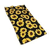 Waldeal Sunflower Floral Hand Towel Super Soft Microfiber Lightweight Quick Dry Towel for Pools, Sports, Beach, Gym, Bathroom(15.7x27.5 Inch)