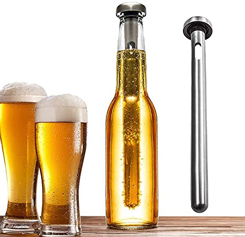 2 PCS Cerveza Acero Inoxidable Chill Refriger Sticks Mantiene Bebidas Enfriador Vino Frío Para Enfriarse Rápida Y Mantener Bebida Frío Para Los Suministros Para Fiestas Picnic BBQ