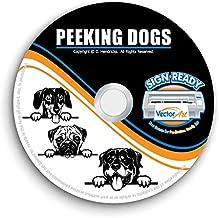 Peeking Dog Clipart-Vector Clip Art-Vinyl Cutter Plotter Images-T-Shirt Graphics CD