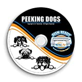 Peeking Dog Clipart-Vector Clip Art-Vinyl Cutter Plotter Images-T-Shirt Graphics CD