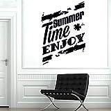 yaoxingfu Profitez de l'heure d'été Surf Palm Shark Surf Stickers Muraux Brave Personnes Sport Home Decor Salon Affiche Magasin Amovible Yt ww-1 L 70x101cm