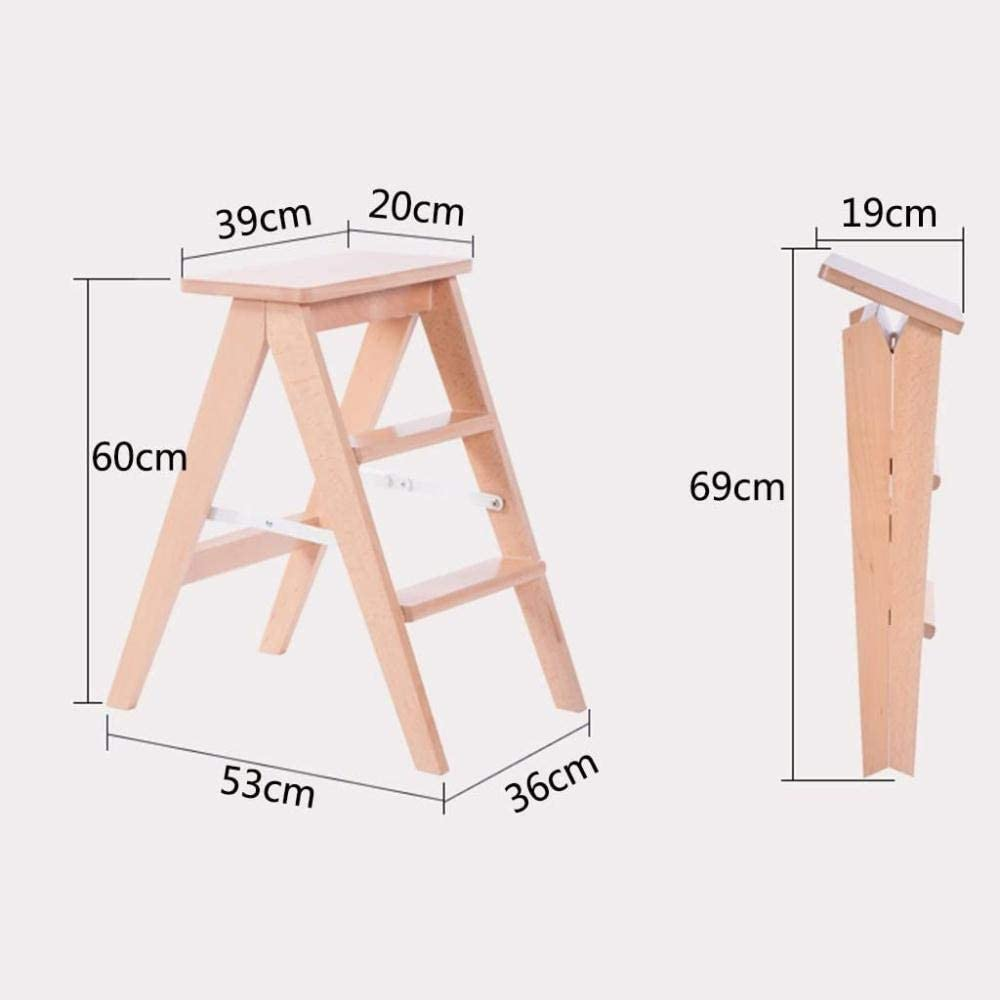 Panier sale Escabeau Pliable Ladder Petit Tabouret en Bois Étape Tabourets Articles ménagers Cuisine Tabourets chaises Pliantes (Color : 3#) 3#