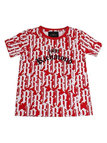 John Richmond Junior - Camiseta de fantasía para niño, modelo RBP20007TS, mod. RBP20007TS rojo 16 años