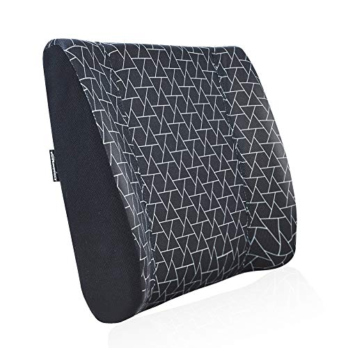 AmazonBasics - Almohada viscoelástica con apoyo lumbar, diseño con triángulos, con paneles