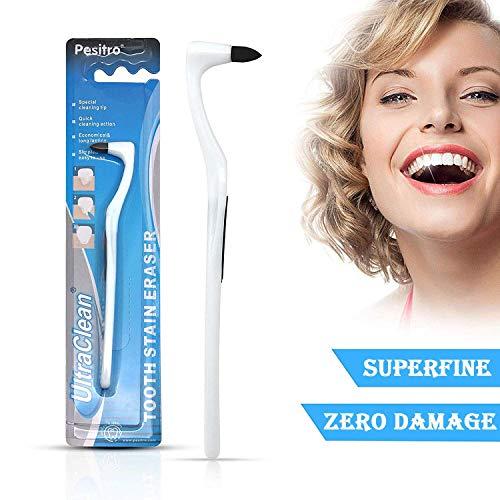 Zahnfleck Radiergummi, Zahnsteinentferner Polierer Zahnreinigung Zahnaufhellung Interdental Pick Mundhygiene | Weiß