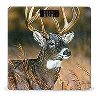 野生動物の鹿 LCDディスプレイ付き高精度スマートフィットネススケール体重デジタルバスルームボディスケール