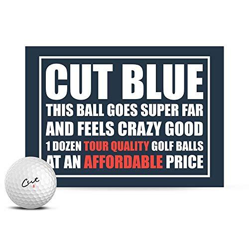 CUT BLUE ゴルフボール 1ダース(全12球入) ウレタンカバー 4ピース構造 コンプレッション90 カットゴルフ USA直輸入品 ホワイト
