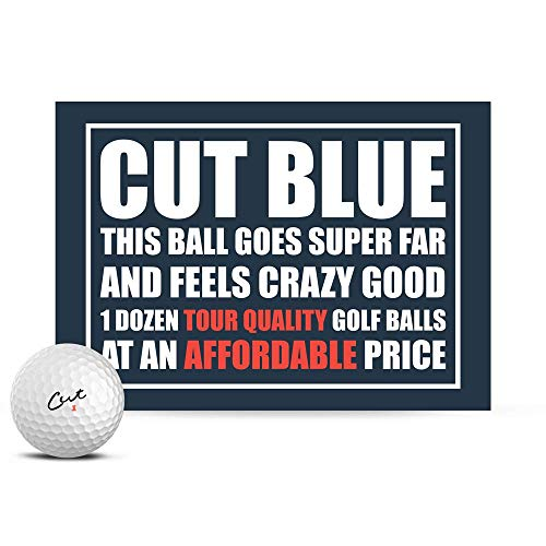 Cut Blue Golf Balls, 4 Piece Urethane (One Dozen)