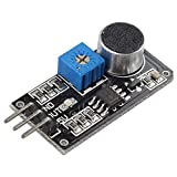 Jolicobo Módulo de sensor de sonido con sección de pin Módulo de sensor de detección de sonido Micrófono para bricolaje