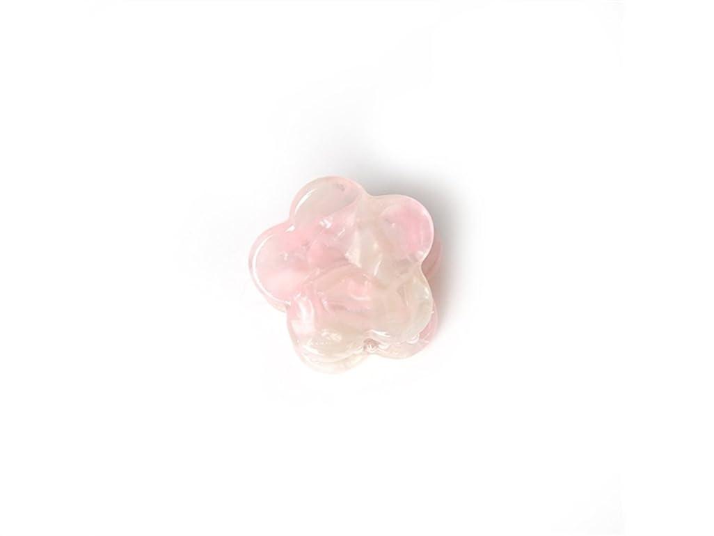 赤面拒否首相Osize 美しいスタイル シンプルなフラワースクエアラウンド形の爪クリップミニジョークリップ(ピンクの花の形)