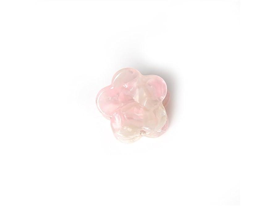 テニス気怠い避難するOsize 美しいスタイル シンプルなフラワースクエアラウンド形の爪クリップミニジョークリップ(ピンクの花の形)